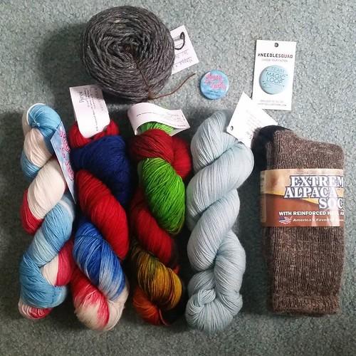 My #YarnCon haul. #knitting #yarn