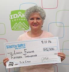 Linda Fucone from Athol, ID - $15,000 5 X Cash