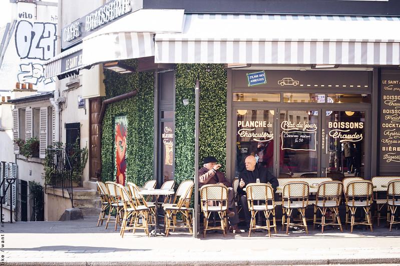 Breakfast, Rue des Abbesses