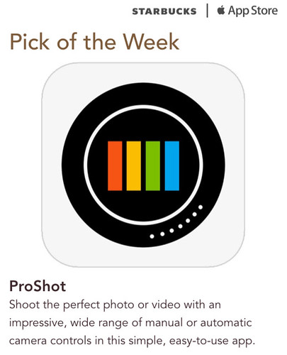 Starbucks iTunes Pick of the Week - ProShot