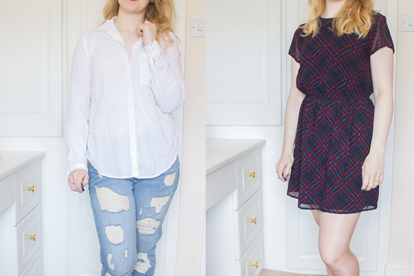 Capsule wardrobe spring update shirt and dress