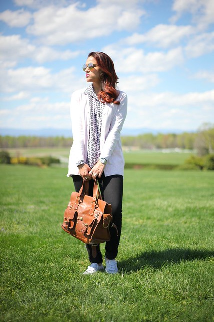 Shirt - GAP Cardigan - GAP Jeans - Joe's Shoes - Converse Bag - Mulberry Montpelier Virginia Tanvii.com