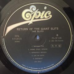 THE SLITS:RETURN OF THE GIANT SLITS(LABEL SIDE-B)