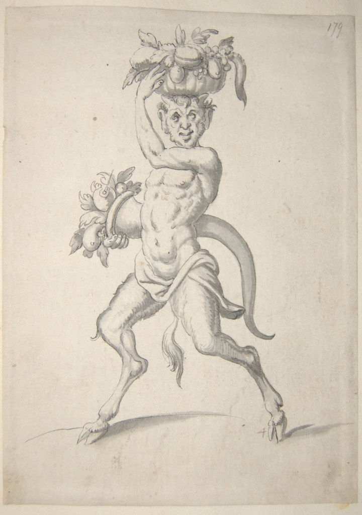 Arent van Bolten - Monster 179, from collection of 425 drawings, 1588-1633