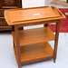 Teak stained tea trolley