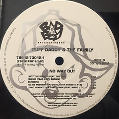 PUFF DADDY & THE FAMILY:NO WAY OUT(LABEL SIDE-D)