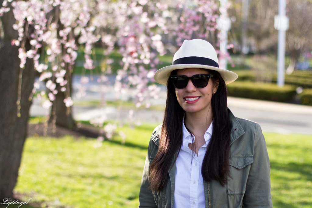 field jacket, white shirt, panama hat, laceup flats-7.jpg