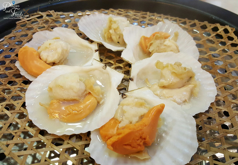 kungfu steam seafood restaurant in sunway steamed scallops