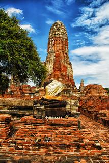 Image of  Wat Phra Ram  near  Phra Nakhon Si Ayutthaya. thailand watphraram phranakhonsiayutthaya