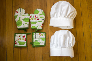 Oven mitts, pot holders, chef hats | by quinn.anya