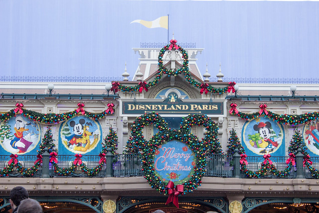 Disneyland in Paris entrance Christmas