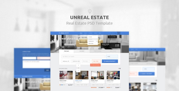 Themeforest Unreal Estate – Real Estate PSD Template