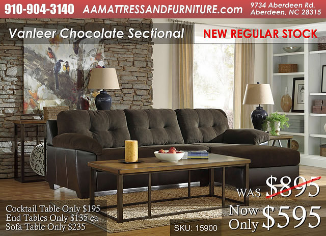 Vanleer Chocolate Sectional WM