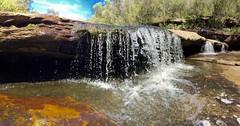 Miniature waterfall pano