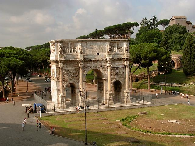 rome. constantine arch-1. ww europe shw