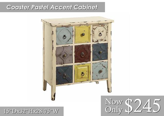 Coaster Pastel Cabinet