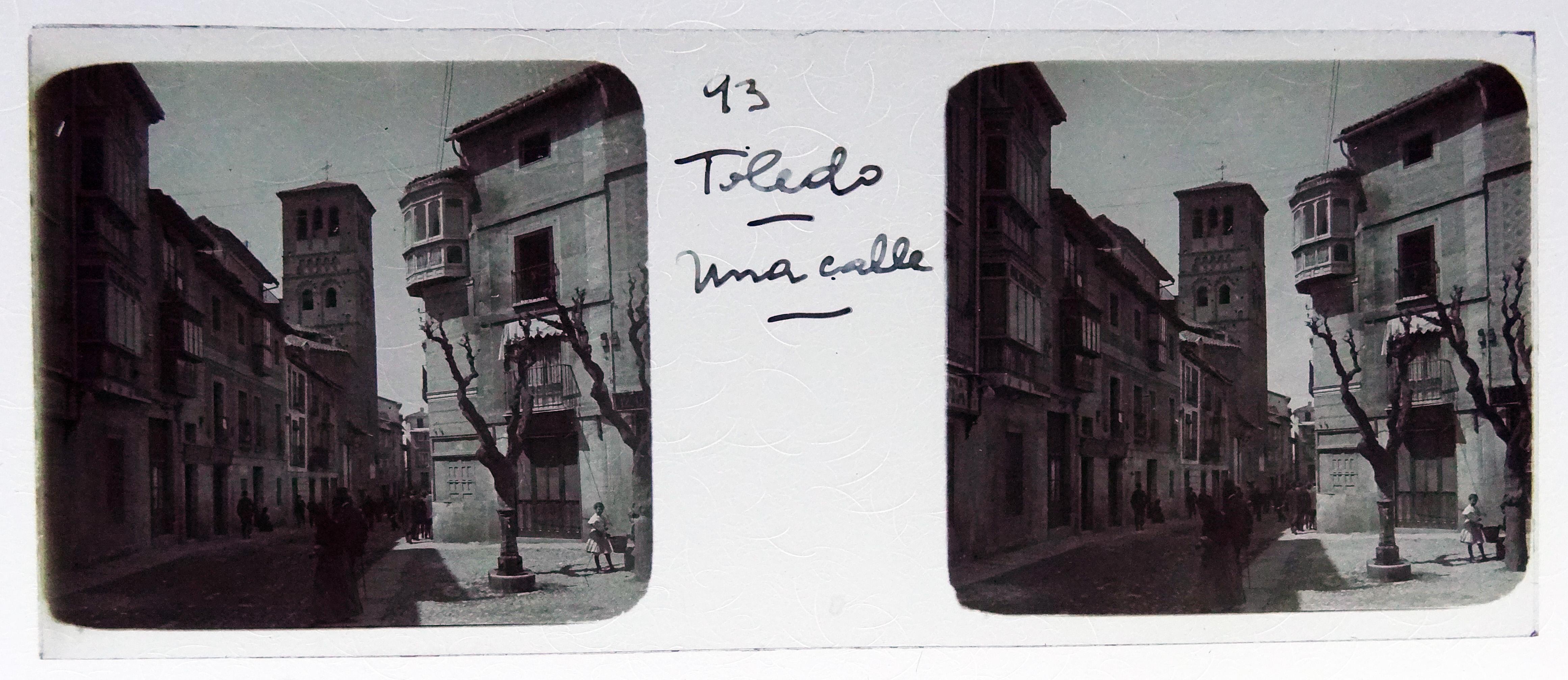Calle de Santo Tomé. Fotografía de Francisco Rodríguez Avial hacia 1910 © Herederos de Francisco Rodríguez Avial
