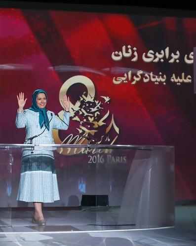 Maryam Rajavi at the International Women's Day, Pledge for Parity: Women United Against Islamic Fundamentalism, Paris, February 27, 2016