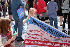 My Daughters at the Bernie Sanders Rally