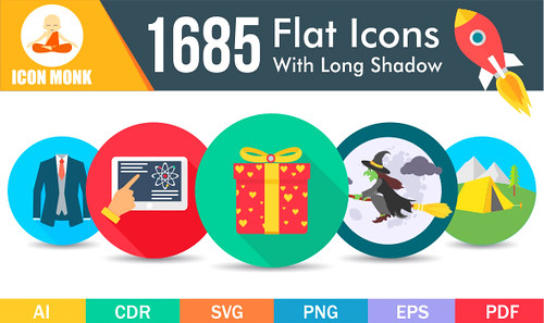 1685 flat icons