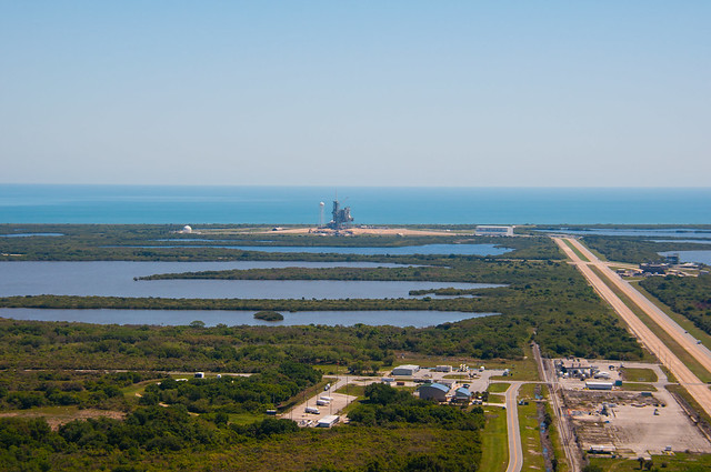 Launch Pad 39A - from roof of VAB