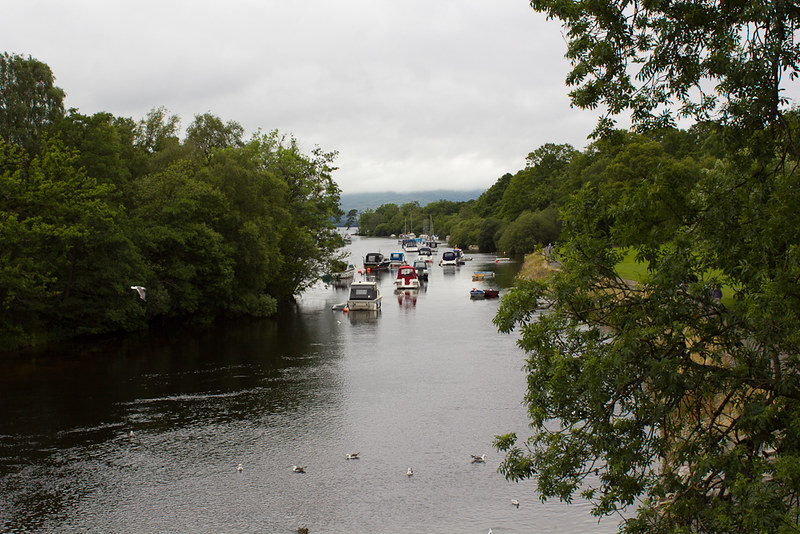 River Leven at Loch Lomond