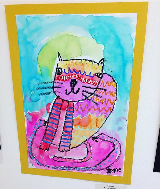 Little kid art at the Schack Art Center. I love his use of color! 💖
