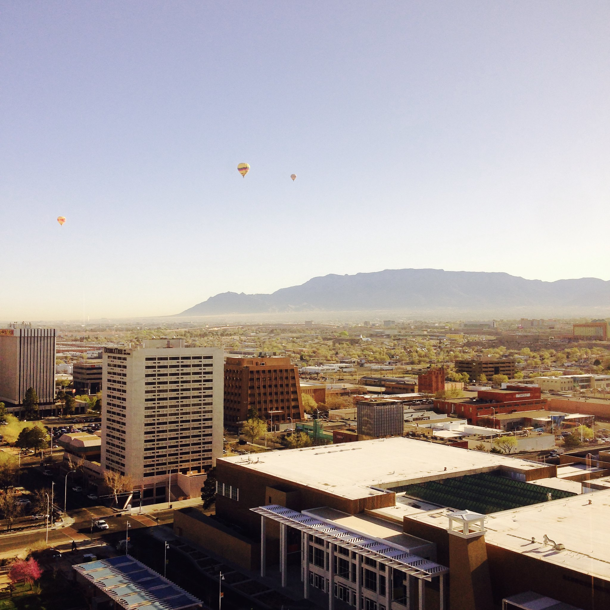 Morning view from Junior Suite #1909 @ Hyatt Regency Albuquerque