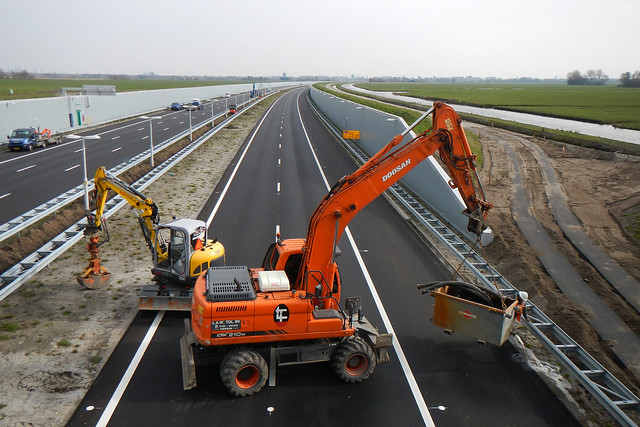 Construction work on A4 Midden-Delfland