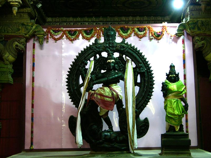 Altar del Templo de Sri Meenakshi