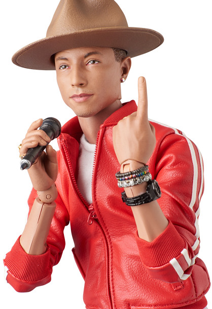 MEDICOM TOY【RAH 葛萊美獎 Pharrell Williams】Get Lucky 經典1/6 收藏人偶流行天王初登場!!