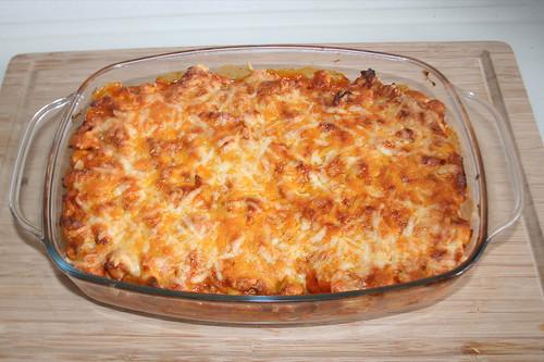 54 - Gyros bean casserole with tomato kritharaki - Finished baking / Gyros-Bohnen-Auflauf mit Tomatenkritharaki - Fertig gebacken