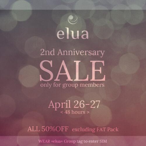 elua Anniversary Sale!!!