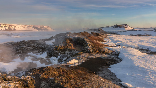 sunlight snow mountains sunrise landscape lava iceland outdoor geothermal myvatn fissure krafla leirhnjukur northeasticeland welshotimaging