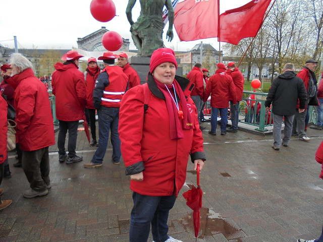 Manifestation CGSP à Charleroi 27042016
