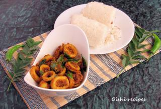 Kanava Thoran(Koonthal/ Squid/ Calamari Stir Fry)