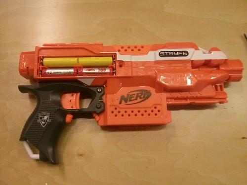 Nerf flywheel gun modding