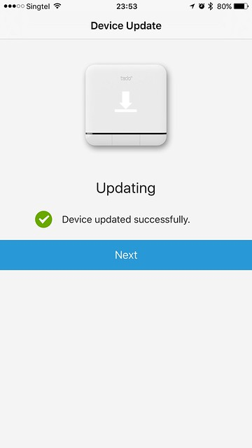 tado iOS App - Device Updated