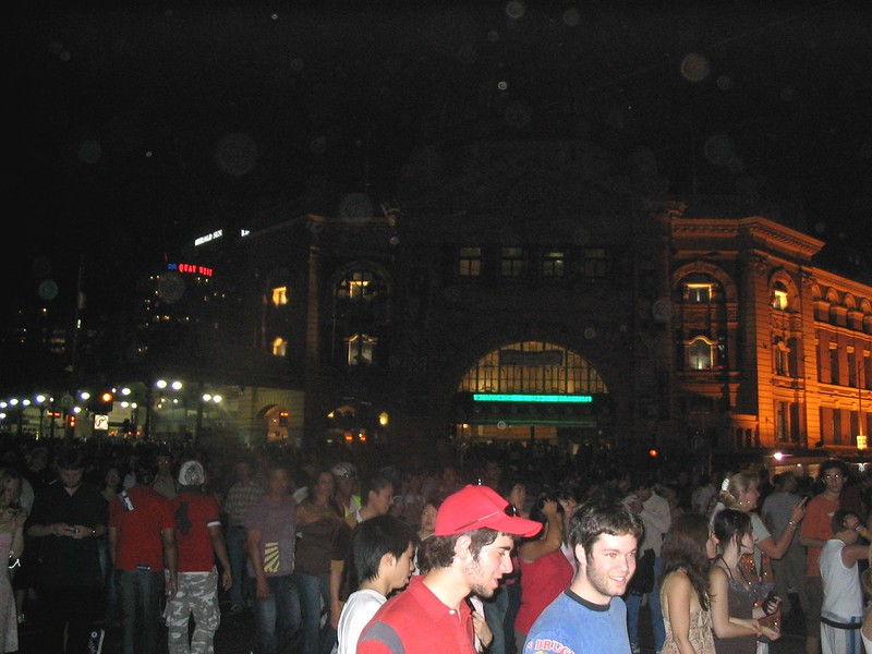 Flinders Street Station, approx 1am 1/1/2006