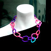 Modern urban bold crochet chain necklace in bright neon colors summer jewelry for city women