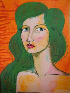 Week 2 Portrait with unusual colour palette 1