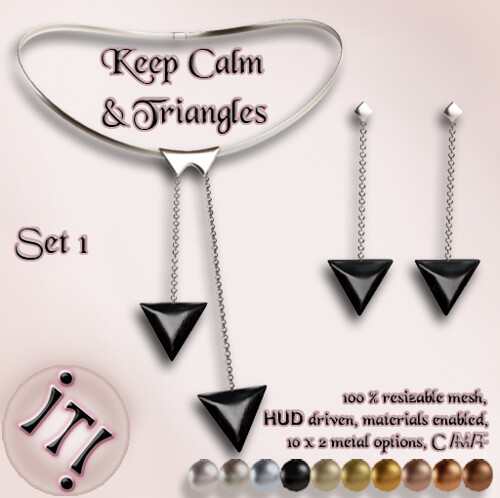 !IT! -  Keep Calm & Triangles Set 1 Image