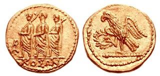 Gold denarius like those siezed in Romania