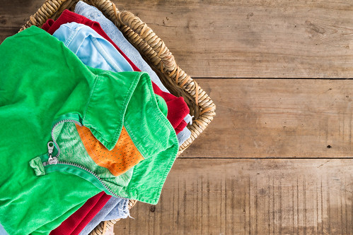 Clean Unironed Summer Clothes In A Laundry Basket | by aqua.mech