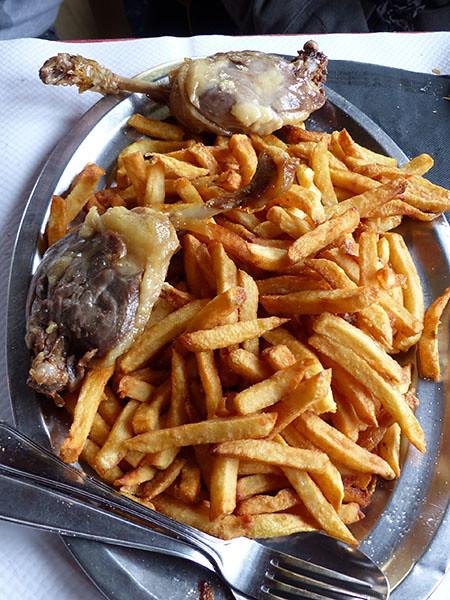 confit de canard et frites