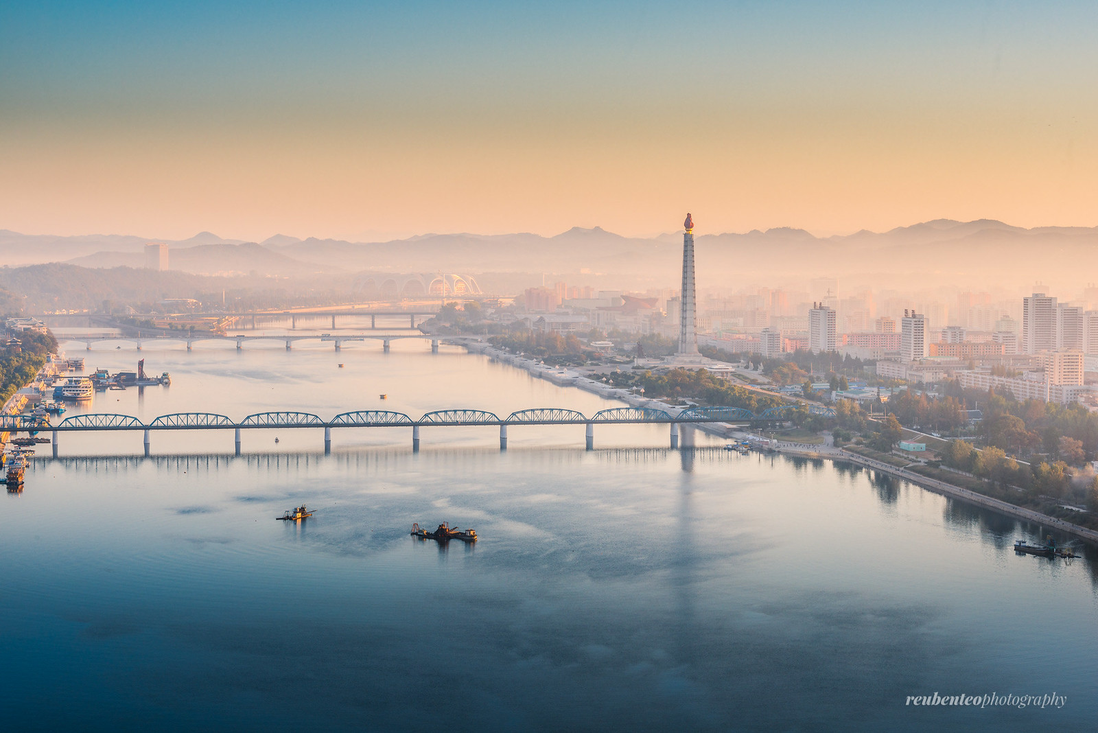 Sunrise in Pyongyang City