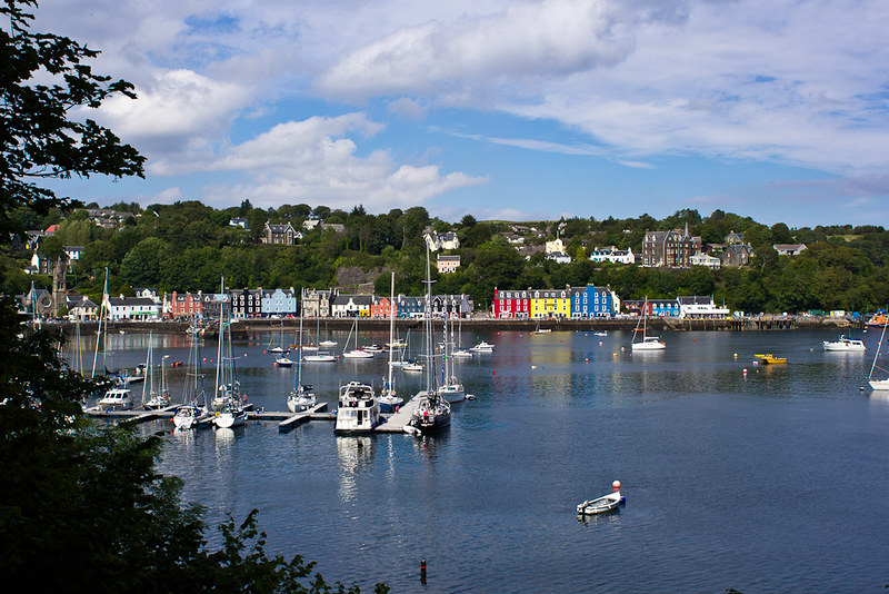View of Tobermory from the Aros Park Walk
