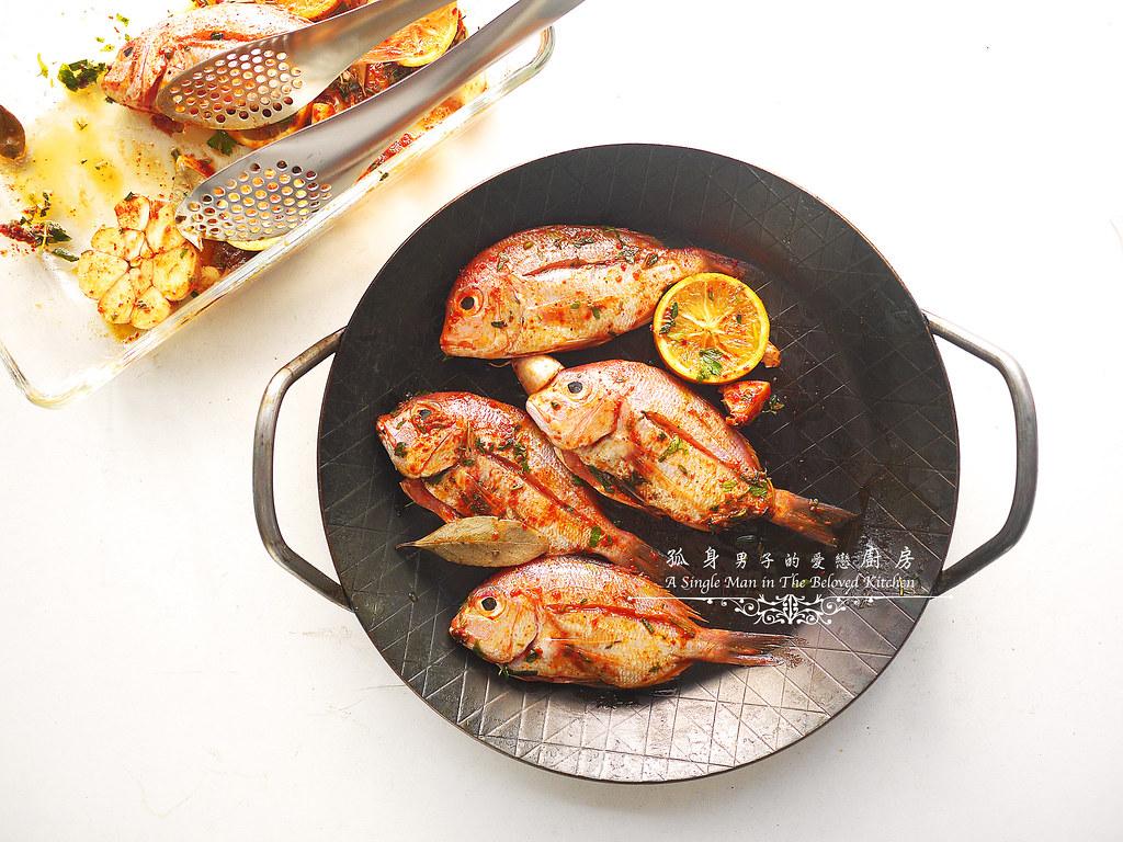 孤身廚房-橄欖柑橘香烤赤鯮10