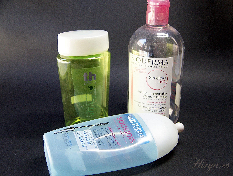 Tonico THPharma, Agua Micelar Bioderma, Desmaquillante Bourjois terminados