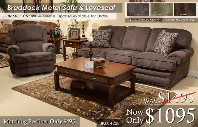 Braddock Metal Living Set